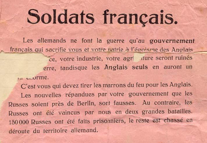 Les tracts de propagande TractAllemand02-1915-1
